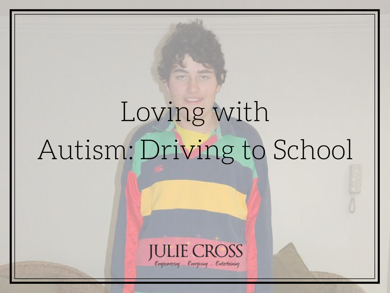 Loving with Autism Driving to School